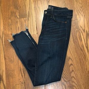 Abercrombie low rise ankle jeans